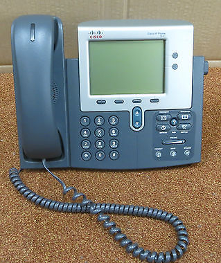 Cisco CP-7941G 7941 Desktop Business VoIP IP Display Phone Telephone With  Stand
